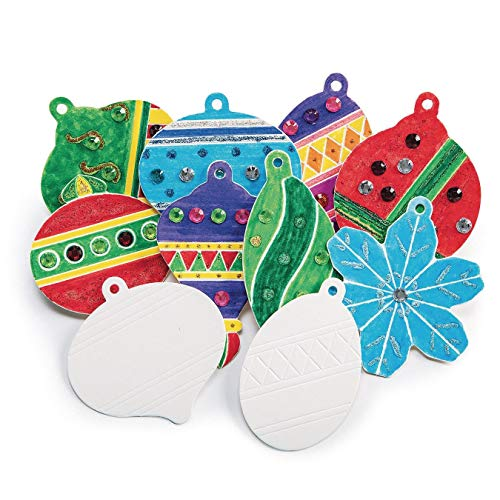 Color Me CF-13937 Holiday Ornaments (Pack of 48)