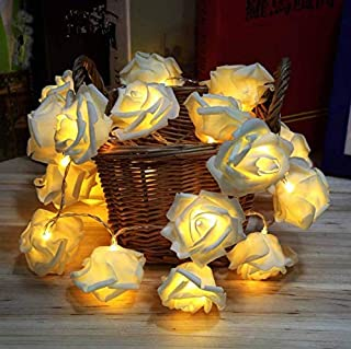 SKEIDO 10pcs rose flower LED Fairy String Lights Lighting Christmas Xmas Party Decor valentine gift shine rose,SDDR012