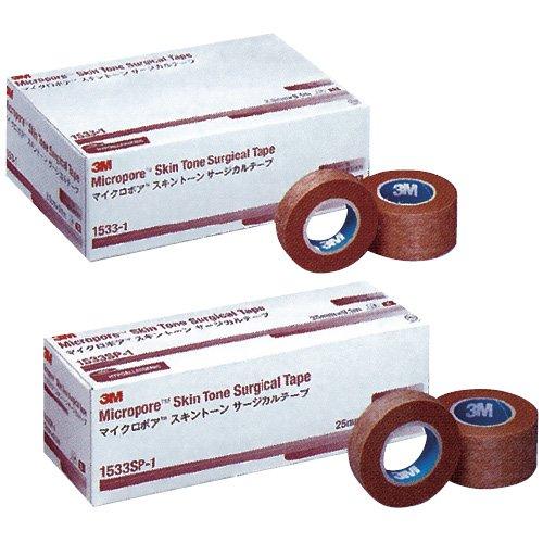 マイクロポアスキントーンサージカルテープ 12.5mm×9.1m 24巻