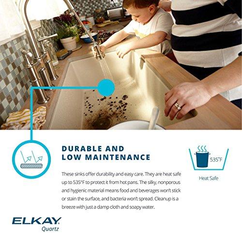 Elkay Quartz Classic ELGUS3322RGS0 Greystone Single Bowl Undermount Sink