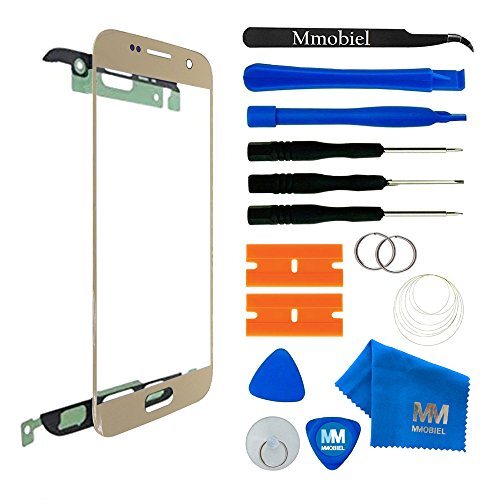 MMOBIEL Front Glas Reparatur Set kompatibel mit Samsung Galaxy S7 G930 Series (Gold) Display Touchscreen mit Werkzeug