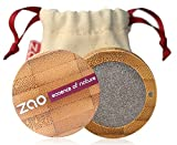 ZAO Pearly Eyeshadow 107 graubraun Lidschatten schimmernd in nachfüllbarer Bambus-Dose (bio, vegan, Naturkosmetik) 101107