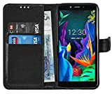 Gadget Giant LG K20 2019 Case Cover Leather Wallet Flip for