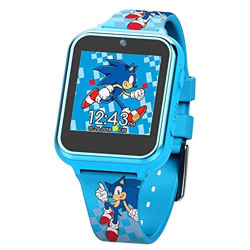 Smartwatch Sonic The Hedgehog Touch-Screen, câmera de selfie integrada, não tóxico, alça fácil de fivelar, relógio inteligente azul - Modelo: SNC4055AZ