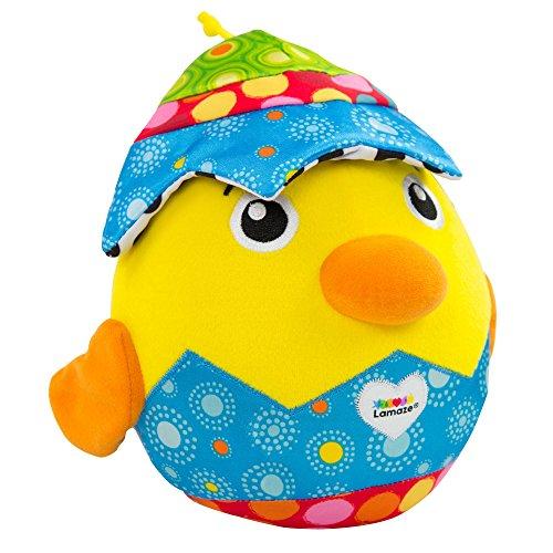 LAMAZE verstoppen met kuiken – hoogwaardig speelgoed voor baby's vanaf 6 maanden – bont leerspeelgoed met geluid van TOMY