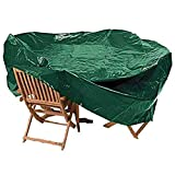 KSHU <span class='highlight'>Garden</span> Medium Oval Waterproof <span class='highlight'>Garden</span> Patio Table Chair Set Furniture Cover Green 95 x 208 x 191cm