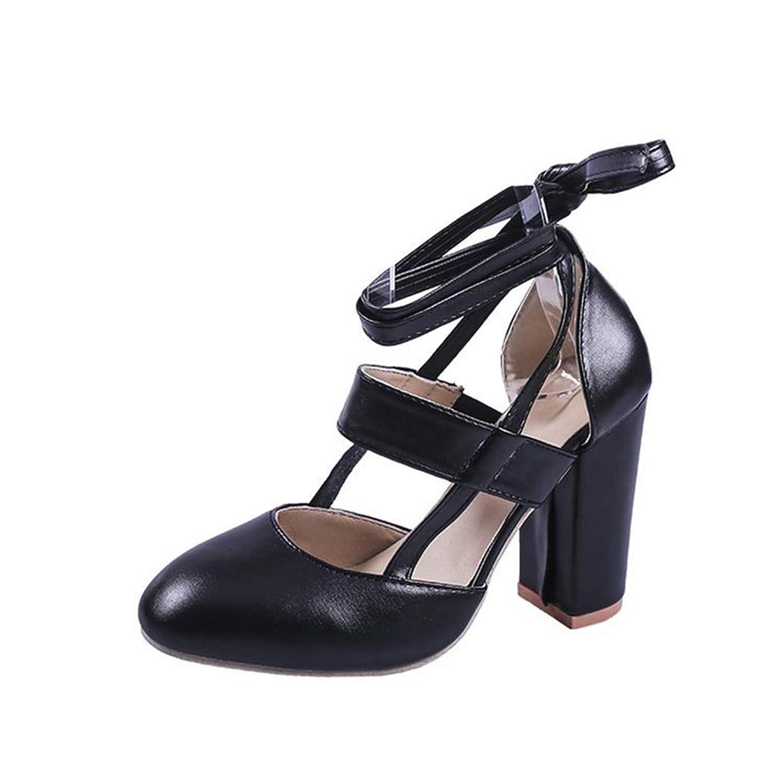 [SENNIAN] パンプス ハイヒール パンプス スクエアヒール レディース シューズ 太ヒール サンダル 美脚 レースアップ 安定感抜群 大人 パーティー イベント シンプル カジュアル10cmヒール 結婚式 靴 黒 赤 大きいサイズ