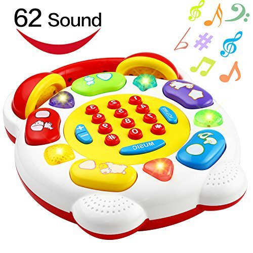 Phone Toy, Smart Phone With 22 Button 62 Sound and Music, Funcorn Toys Telephone For Kid Child Baby Toddler, Home SmartPhone Toy For Learning Educaton
