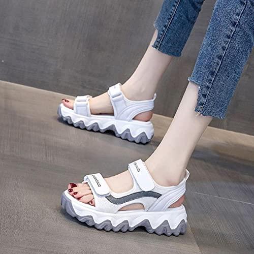DZQQ 2021 été Sandales épaisses pour Femmes Plate-Forme de Mode Sandale Dames concepteurs décontracté compensées Sandales Femme Marque Sandales de Sport