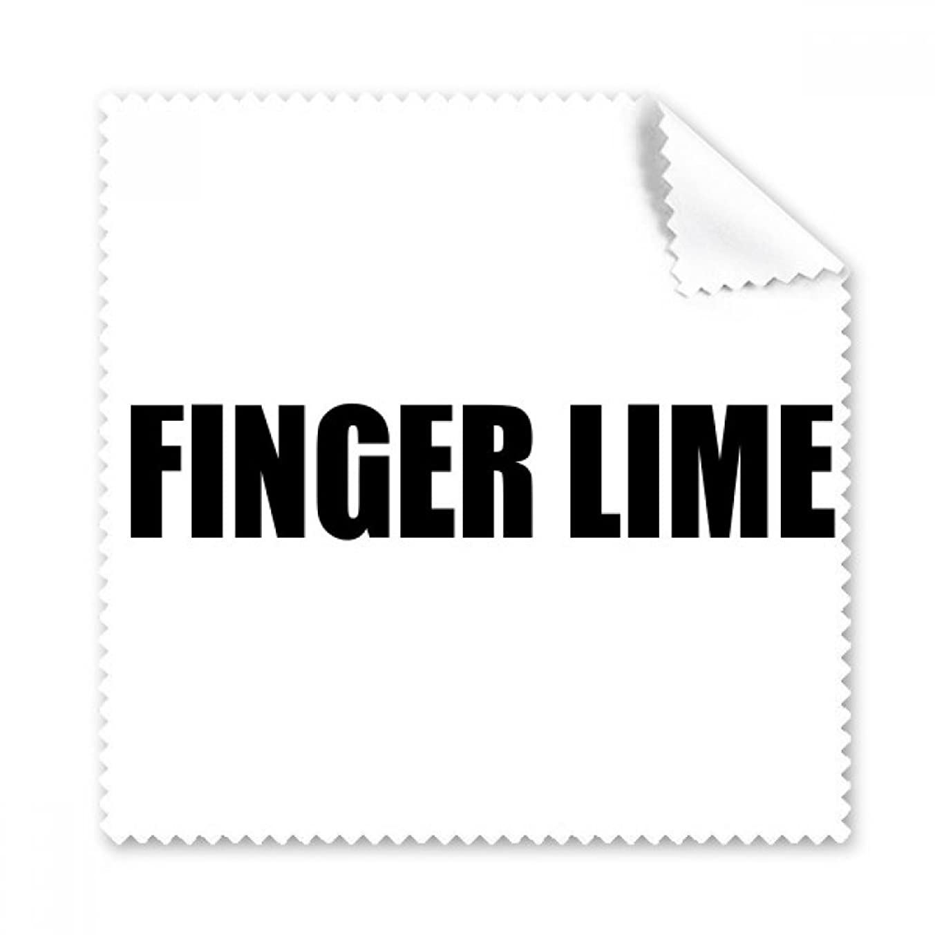 Finger Lime Fruit Name Foods Glasses Cloth Cleaning Cloth Phone Screen Cleaner 5pcs Gift
