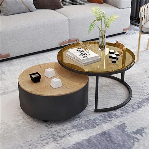 Tavolini Tavolino piccolo tavolino da caffè casa soggiorno ferro solido legno tablecoffee tavola (Color : Black)