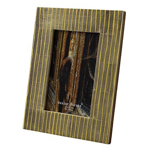 SPICE OF LIFE(スパイス) 写真立て ボーン フォトフレーム ANCIENT ストライプ ブラウン ポストカードサイズ 16.5×21.5cm 水牛骨 TCDG8110