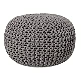 Home Stylish Pouf Puffy for Living Room Sitting Round Ottoman Bean Filled Stool for Foot Rest Home Furniture Rope Twisted Bean Bag...