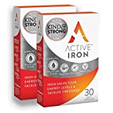 Active Iron (2 PACKS) | Iron Tablets | Ferrous Iron Sulphate Supplement | Clinically Proven | 2-Months Supply