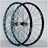 VTDOUQ Rueda MTB 26 27,5 Pulgadas Rueda de Bicicleta Llanta Rueda de Bicicleta de montaña Freno de Disco 24H Bujes de Casete QR de 7-12 Velocidad Rodamiento Sellado 1800g