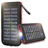 Portable Solar Charger 25000mAh Solar Power Bank 2 Input 3 USB Output External
