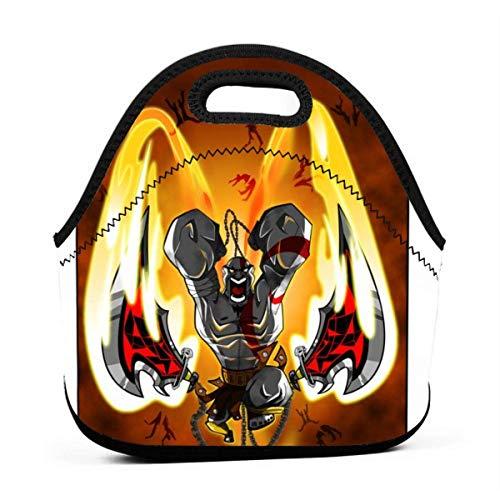 Lunchtasche Kratos Art Pop Gourmet-Tragetasche Personalisiertes Reißverschlussgeschenk Multifunktionale Lunch-Tasche Outdoor-Passform Grill Büroarbeit Schule