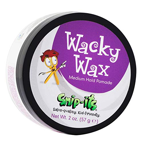 Snip-its Wacky Kids Hair Wax 2oz | Great Baby Hair Gel Alternative with All Day, Medium Strong Hold – Fresh Tropical Fragrance – All Natural Hair Wax Product Made in USA | Salon Quality. Kid Friendly.