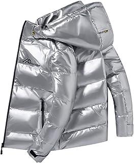 Glanzende stof donsjack mannen witte eend dikke winter warme parka waterdicht plus size 4XL