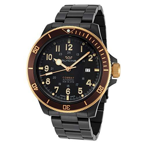 Combat Reloj para Hombre Analógico de Automático con Brazalete de Acero Inoxidable GL0276