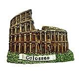 Colosseum Roma Italia Europa mundo viaje resina 3d fuerte imán para nevera recuerdo turista regalo chino imán hecho a mano creativo hogar y cocina decoración magnética