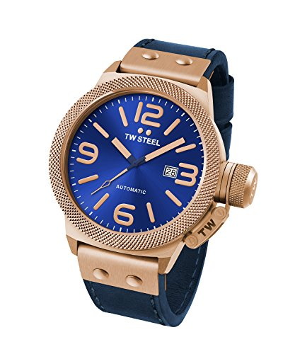 Reloj Automático TW Steel para Unisex con Azul Analogico Y Azul Cuero CS65