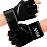 Gym Gloves,Weight Lifting Gloves with Full Wrist Support,Extra Grip Training Gloves for Fitness/Crossfit/Pull