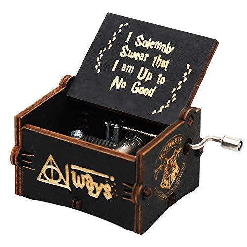 GSHGS Miniatura Caja Musica De Madera Caja De Musica Navidad Manivela Artesanías De Música con Manivela Bebéroom Bedside Decoración del Hogar 0D