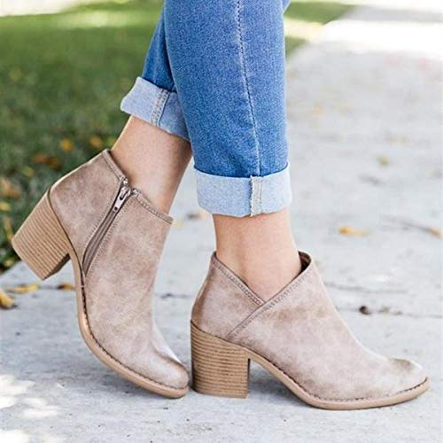 Details about  /Women/'s Casual Fashion Round Toe Outdoor Wedge Heel Ankle Boots Shoes 41 42 43 D