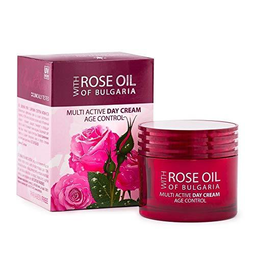 Multiaktive Anti Aging Tagescreme mit Rosenöl und Rosenwasser mit UV Schutz - MULTI ACTIVE DAY...