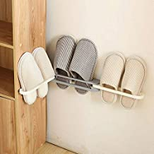 CPEX Shoe Rack Organizer,Wall Mounted 3 in 1 Space-Saving Shoes Storage Shelf Slipper Stand (Multicolor) (Set of 5 Pcs)
