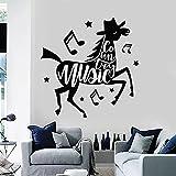 HGFDHG Caballo Creativo calcomanía de Pared música Country Notas Vinilo Ventana Pegatina Estudio de música habitación de los niños decoración del hogar Papel Tapiz