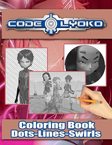Code Lyoko Dots Lines Swirls Coloring Book: Stress Relieving An Adult Swirls-Dots-Diagonal Activity Book Code Lyoko