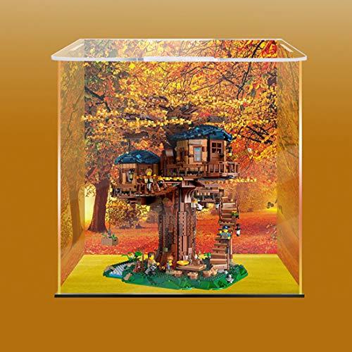 Gettesy Acryl Schaukasten Vitrine Kompatibel Mit Lego 21318 Baumhaus Konstruktionsspielzeug, Schaukasten Staubdicht Showcase Display Case (Ohne Modell Kit)
