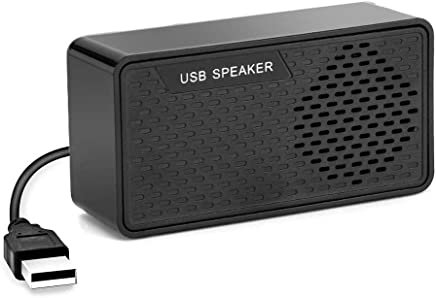 Portable Mini PC Speaker Wired USB Powered Stereo Multimedia Speaker for Computer Notebook PC Desktop Laptop Checkout Counter