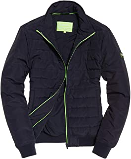 Superdry Mens International Quilted Jacket Navy