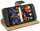mumbi Echt Leder Bookstyle Case kompatibel mit Samsung Galaxy A3 2017 Hülle Leder Tasche Case Wallet, schwarz