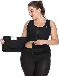 Womens Neoprene Waist Trainer Corest for Weight Loss Adjustable Waist Trimmer Belt Sauna Suits Tank Top Shaper