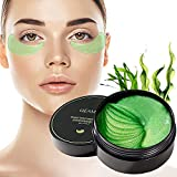 juxia 30 Pares Máscara De Ojos De Gel Verde De Algas Marinas, Almohadillas De Gel para Ojos, Parches De Colágeno para Los Ojos para Hidratación De Ojos, Ojeras, Arrugas, Líneas Finas