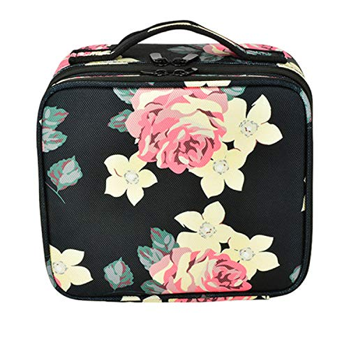 SANYUE Large-Capacity Waterproof Travel Cosmetic Bag, Portable Cosmetic Storage Bag, Detachable Partition, Detachable Makeup Mirror, For Home/Travel