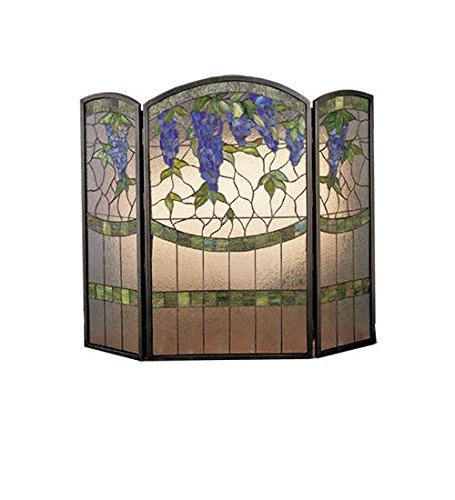 Buy Bargain Meyda Home Indoor Bedroom Decorative 40Wx34H Wisteria Folding Fireplace Screen