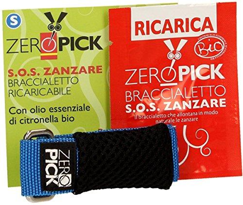 Zeropick Pulsera Antimosquitos S Azul Citronela Bio 1 Unidad 300 g