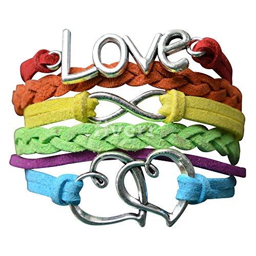 LGBT Bracelet, Lesbian Pride Jewelry, Rainbow Pride Bracelet & Perfect Lesbian Gifts