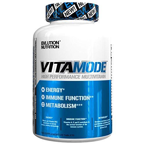 Evlution Nutrition VITAMODE Men's High-Performance Daily Multivitamin, Full Spectrum Vitamins & Minerals, Vitamin C & D, Zinc, Antioxidants, 120 Tablets, 60 Days