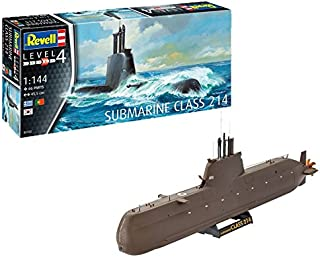 Revell- Maqueta Submarino Class 214, Kit Modello Escala 1:144 (5153) (05153), 45,5 cm de Largo (