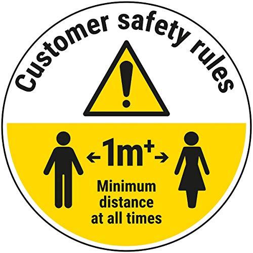 V Safety CV296BK-FS Vsecurity Customer Rules - Adhesivo para Suelo (1 m, 600 x 600 mm), 600 x 600
