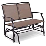 Giantex Patio Glider Stable Steel Frame for Outdoor Backyard,Beside Pool,Lawn, Swing Loveseat Patio Swing Rocker Lounge Glider Chair