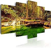 キャンバスウォールアートプリント滝5pcsホームストレッチ画像写真絵画アートワーク画像