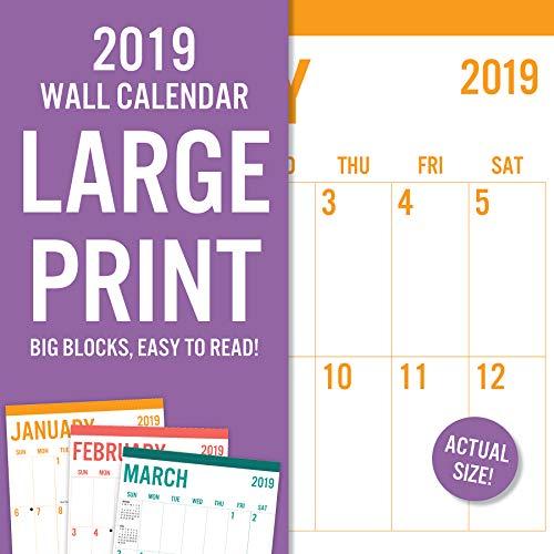 Avalon 2019 82389 - Calendario de pared (30,5 x 30,5 cm)