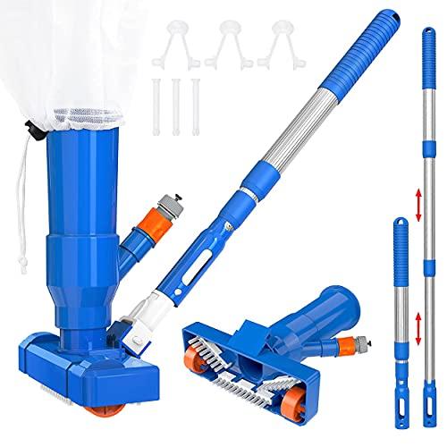 LRIO Upgrade Pool Vacuum Cleaner Kit,Portable Mini Hot Tub Vacuum Cleaner...